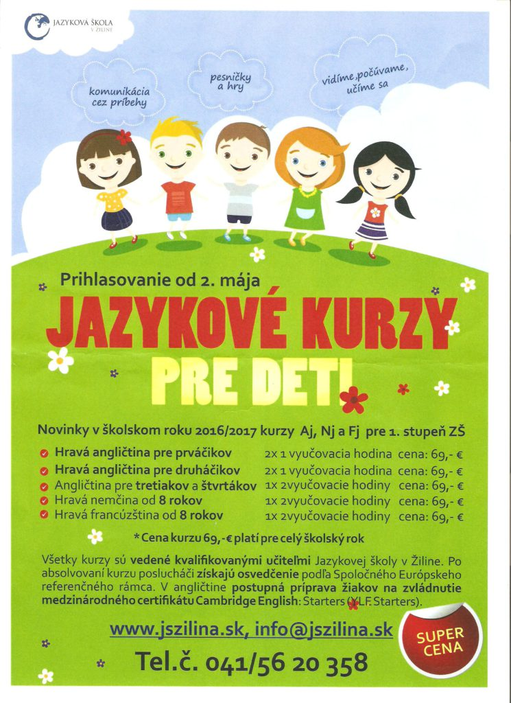 Jazykové kurzy pre deti
